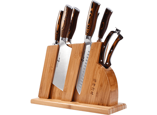 TUO Kitchen Knife Set with Wooden Block