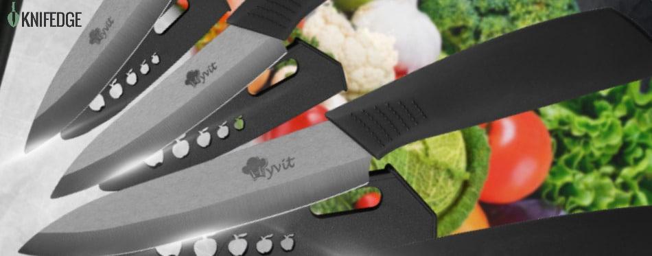 Ceramics on knife - 15-Piece Kitchen Knife Set