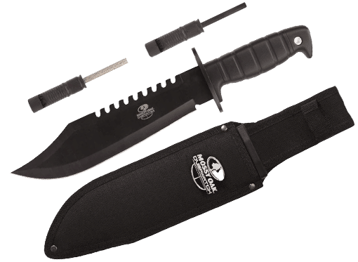 Mossy Oak Survival Knife, 15-inch Fixed Blade Hunting Bowie Knife