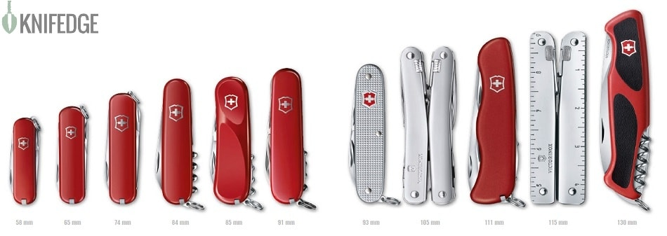 Swiss Army Knives Size